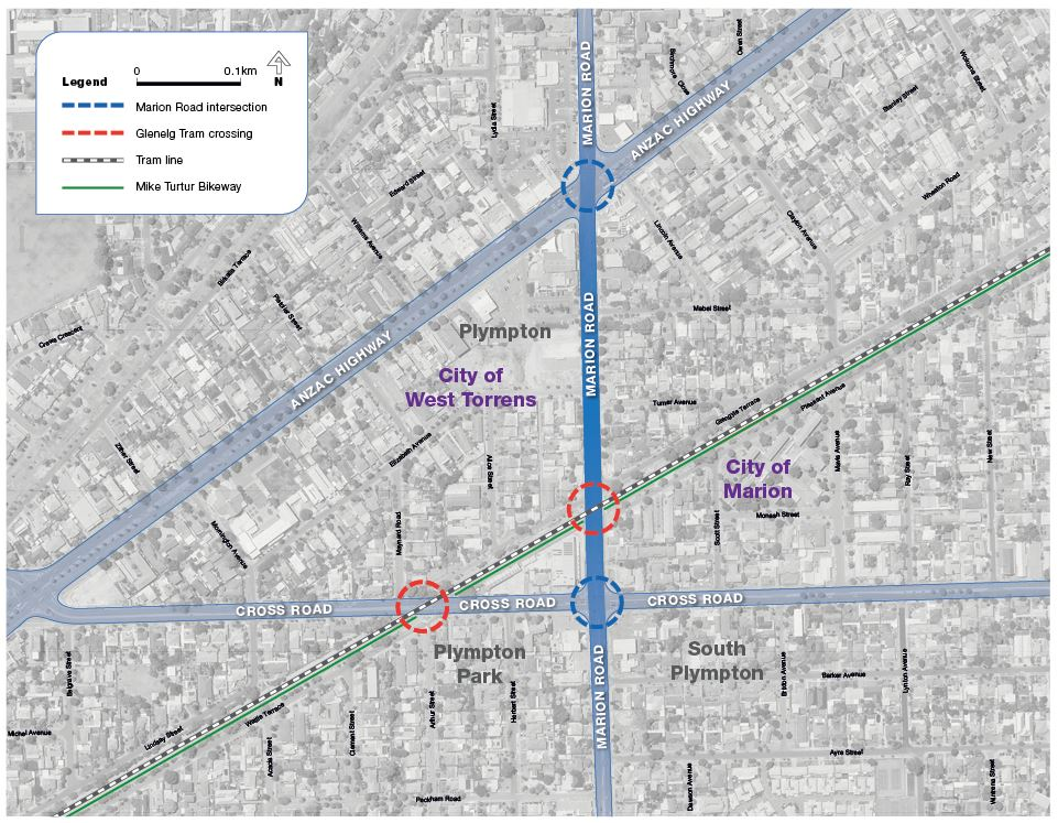 Marion Road Planning Study map