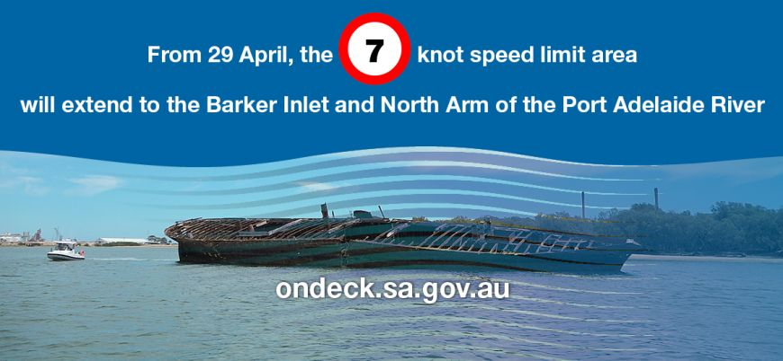 Changed speed limits in Barker Inlet and North Arm