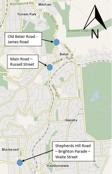 Mitcham hills map