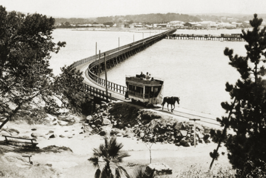 Causeway with Victoria Pier in background. Circa 1930.