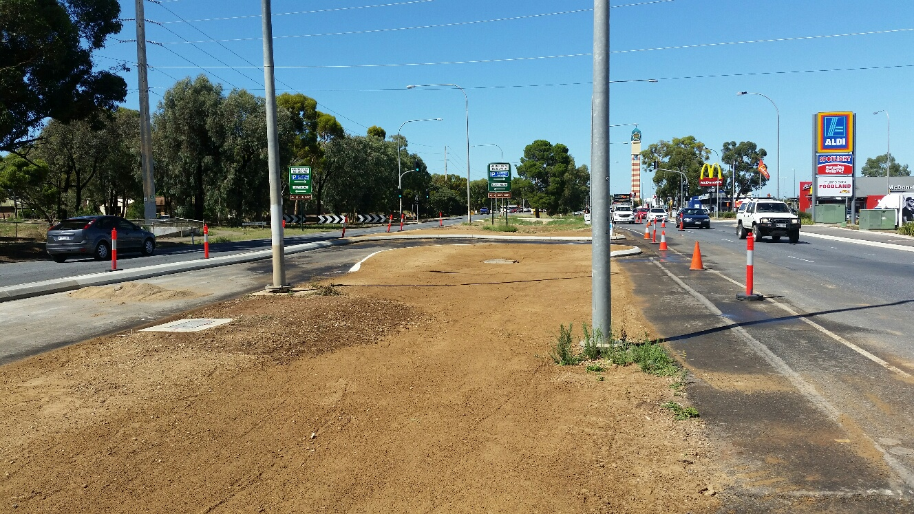 Main North Road Median Upgrade January 2017
