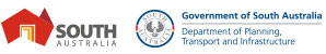 Department for Infrastructure and Transport Logo and the South Australia Logo